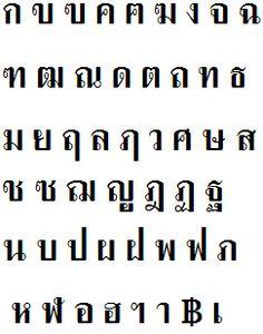 Thai alphabet. Thai Alphabet, Siamese, Good To Know, Writing, Math, Reading, House, Ideas, Home