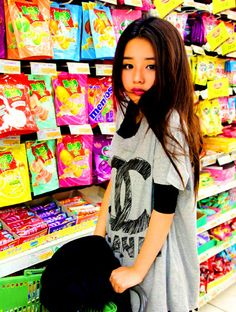 Pose in a candy store for more adorable points