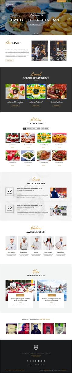 OWL is a modern, clean and professional responsive 3in1 #HTML5 template for #restaurant and cafe websites download now➩ https://themeforest.net/item/owl-restaurant-html5-website-template/19102752?ref=Datasata