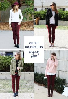 28 Best Burgundy Pants Outfit Images Wine Pants Casual Outfits