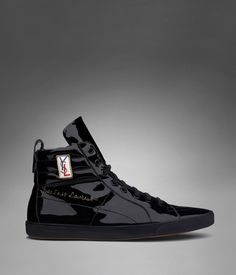 3f97328153e Classic High-top Sneaker in Black Patent Leather - Yves Saint Laurent  my  favorite