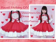 Holiday Kawaii DIY - Sew Valentine's Day Dress + Short Sleeves - Lolita Fashion - YouTube