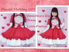 8ad69d2cb4 Holiday Kawaii DIY - Sew Valentine s Day Dress + Short Sleeves - Lolita  Fashion - YouTube