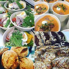 Idag har vi en skön onsdagsfeeling. Det serveras en sallad med tonfiskmums kokt ägg och sockerärtor eller en italiensk tomatsoppa med mini mozzarella och salsiccia korv. #sockermajas #mandelbullar