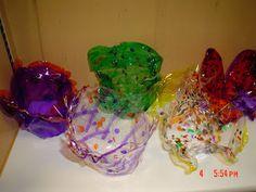 Chihuly Art Lesson: Overhead transparencies, permanent markers, clay pot, and heat gun.