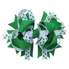Holiday & Special Occasion Over the Top Boutique Hair Bow Clip - Assorted Styles & Colors (St. Patrick's Day Shamrock) So Sydney http://www.amazon.com/dp/B010VF3J9C/ref=cm_sw_r_pi_dp_UB8Owb1V2F322