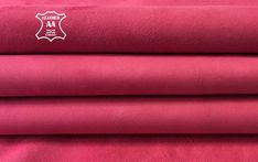 NEON PINK lambskin leather pieces Real leather fabric Bright Pink hide 822 2.5oz