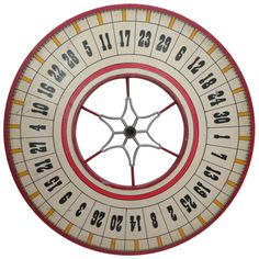 Carnival Game Wheel   From a unique collection of antique and modern carnival art at https://www.1stdibs.com/furniture/folk-art/carnival-art/