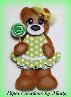 tear bears | ELITE4U Candy Fleece Tear Bear premade paper piecing scrapbooking page ...
