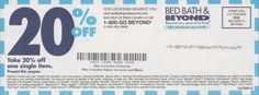 Free Printable Coupons: Bed Bath and Beyond Coupons Free Printable Coupons, Free Coupons, Free Printables, Kfc Coupons, Store Coupons, Michaels Coupon, Frugal Christmas, Bath And Beyond Coupon, Coupon Deals