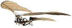 3 d Da Vinci Ornithopter máquina voadora - ilustração de arte vetorial