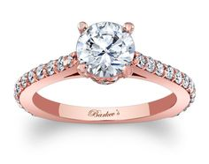 Barkev's Rose Gold Engagement Ring - 7971LPW