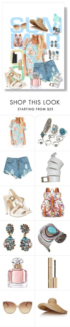 """#SUMMER OF LOVE ❤️"" by kamilleandco on Polyvore featuring Gucci, Versace, Guerlain, Stila, Linda Farrow, Lola and Arbonne"