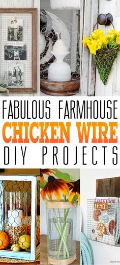 If you told me 10 years ago that I would be putting together a collection of Fabulous Farmhouse Chicken Wire DIY Projects…I would have probably said…WHAT??? I would never have imagined such awesome creations could come from this simple hardware supply! Well I am really happy that many did imagine it and made their visions …