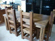 Solid Wooden Kitchen Tables #eatsleeplive #reclaimedwood #kitchen