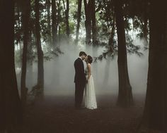One stunning yet dramatic pre-wedding shoot inspiration coming your way! Totally head over heels in love with the incorporation of fogs that looks like smoke accents, creating a mysterious yet romanti Wedding Shoot, Wedding Pictures, Wedding Engagement, Fall Wedding, Dream Wedding, Boho Wedding, Wedding Reception, Wedding Dresses, Gothic Wedding