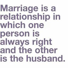 Image result for one person is right and the other person is the husband