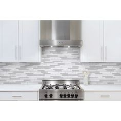 Shop Anatolia Tile Mystique Winter Linear Mosaic Stone and Glass Marble Wall Tile (Common: 12-in x 12-in; Actual: 11.26-in x 11.73-in) at Lowes.com