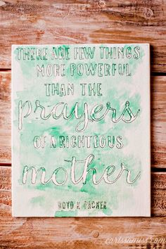 A Righteous Mother DIY Watercolor Canvas from Lolly Jane