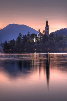 Sunrise at Lake Bled My Travel Map, Lake Bled, Romantic Getaway, Macedonia, Albania, Eastern Europe, Alps, Mother Earth, The Places Youll Go