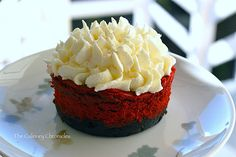 Red and Beautiful Cheesecake