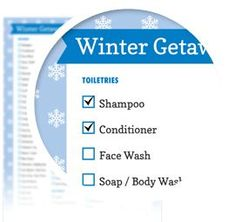 Winter Packing List - Download here: https://www.alejandra.tv/shop/printable-home-organizing-checklists/?utm_source=Pinterest&utm_medium=Pin&utm_content=Checklistk&utm_campaign=Pin  This is the complete packing list to use when getting ready to travel somewhere cold where there will be snow, skiing, snowboarding, a hot tub, spa or some type of fun winter activity where you need to bundle up to stay warm!