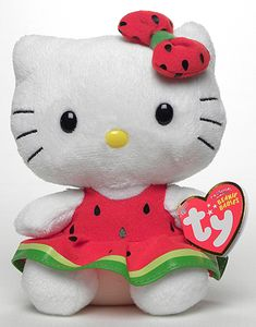 Hello Kitty (watermelon dress) - Cat - Ty Beanie Babies