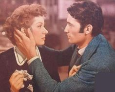 """Greer Garson & Gregory Peck in """"The Valley of Decision"""" (1945)"""
