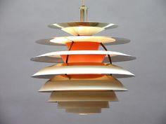 """Poul Henningsen, """"Contrast"""" ceiling lamp for Louis Poulsen, 1962."""