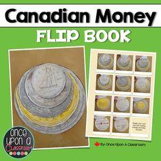 Canadian Money Flip Book Math Tips, Math Lessons, 1st Grade Math, Grade 2, Canadian Coins, Money Book, Primary Maths, Math Math, A Classroom