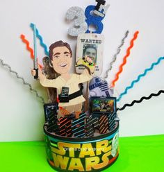 STAR WARS COMPUTER CUSTOMIZED BIRTHDAY CAKE TOPPER  TO LOOK LIKE YOU | kharygoarts - Children's on ArtFire