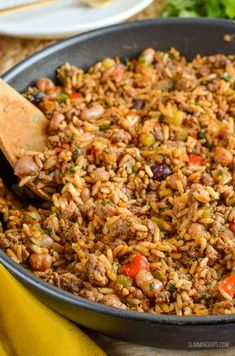 Diet Recipes Slimming Eats - Slimming World Recipes Syn Free Spicy Beef, Beans and Rice Slimming World Dinners, Slimming World Recipes Syn Free, Slimming Eats, Slimming World Minced Beef Recipes, Top Recipes, Mexican Food Recipes, Diet Recipes, Cooking Recipes, Healthy Recipes