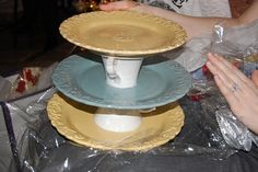 Homemade 3 tier serving tray