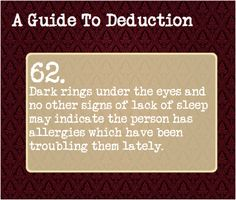 A Guide To Deduction — Suggested by: foreverday