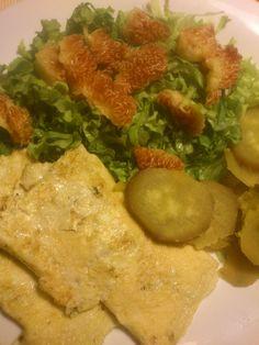 omelete+salada+batata doce