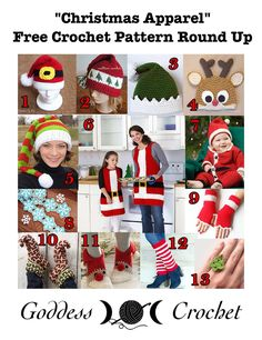 """Christmas Apparel"" - Free Crochet Pattern Round Up"