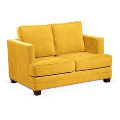 """Check out this item at One Kings Lane! Mary 58"""" Love Seat, Mustard"""
