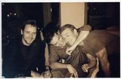 Russell Crowe, Aden Young and Simon Baker    A very old photo of three very talented Aussie actors.
