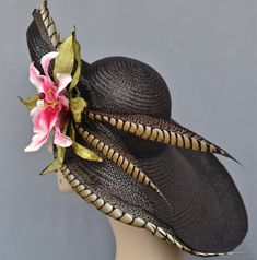 kentucky derby hats on women   Kentucky Derby Hat, Garden Party, Couture Women's Hat, Easter, Large ...
