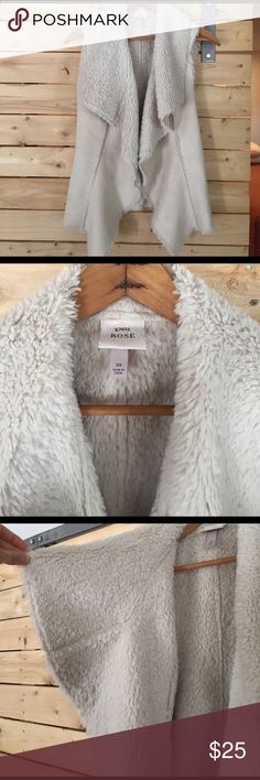 Super soft shearling faux fur and suede vest Faux. So soft tho! So cute! Spices up any outfit! 💞 not anthropologie. Knox Rose brand for Target. Anthropologie Jackets & Coats Vests