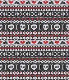 possible fair isle crochet pattern? Fair Isle Knitting Patterns, Fair Isle Pattern, Knitting Charts, Knitting Socks, Knitting Stitches, Crochet Chart, Moose Skull, Fair Isle Chart, Tejidos