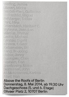 Neubau / Above the Roofs of Berlin / Catalogue / 2014