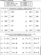math worksheet : integers worksheets and the o jays on pinterest : Fraction Inequalities Worksheet
