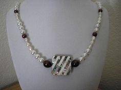 Genuine Freshwater pearls/Abalone & MOP by CreationsbyMaryEllen, $13.75