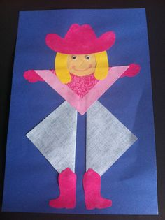 Fancy Cowgirl Rodeo Crafts, Cowboy Crafts, Texas Crafts, Western Crafts, Cowboy Theme, Western Theme, Cowboy And Cowgirl, Western Art, Preschool Themes