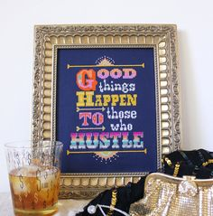 Good Things Happen to Those Who Hustle  Cross by SatsumaStreet, $6.00