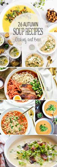 From bisques to stews and chowders to vegetable, here are 26 soup recipes that are perfect autumn! Add these recipes to your fall menu plans ASAP!: