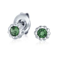 Bling Jewelry Bling Jewelry 925 Sterling Silver Natural Tourmaline... (€15) ❤ liked on Polyvore featuring jewelry, earrings, green, sterling silver jewelry, sterling silver jewellery, studded jewelry, tourmaline stud earrings and earring jewelry