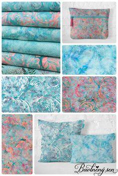 Úchvatná kolekce Bali batik v tyrkysové barvě