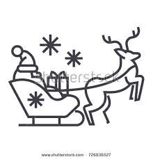 santa claus in a sleigh with a deer vector line icon, sign, illustration on white background, editable strokes , Deer Vector, Line Icon, Santa, Illustration, Christmas, Free, Image, Display Ideas, Design